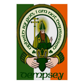 Dempsey Clan Motto Poster Print