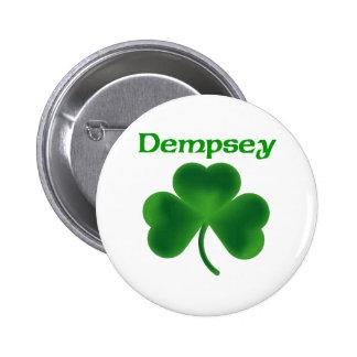 Dempsey Shamrock 6 Cm Round Badge