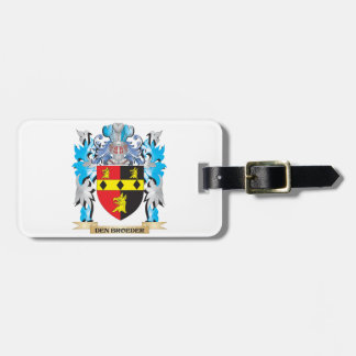 Den-Broeder Coat of Arms - Family Crest Bag Tag