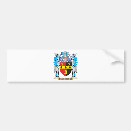Den-Broeder Coat of Arms - Family Crest Bumper Stickers