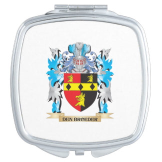Den-Broeder Coat of Arms - Family Crest Travel Mirrors