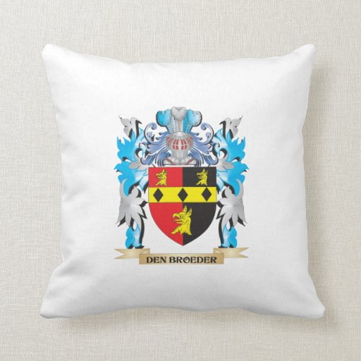 Den-Broeder Coat of Arms - Family Crest Throw Pillows