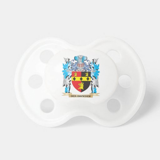 Den-Broeder Coat of Arms - Family Crest Pacifiers