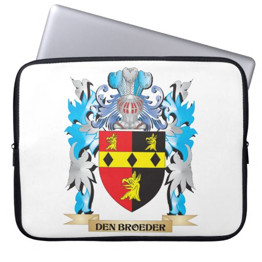 Den-Broeder Coat of Arms - Family Crest Computer Sleeves