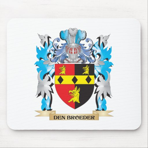 Den-Broeder Coat of Arms - Family Crest Mousepad