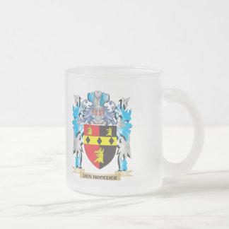 Den-Broeder Coat of Arms - Family Crest Frosted Glass Mug
