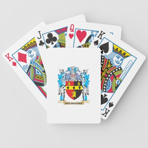 Den-Broeder Coat of Arms - Family Crest Playing Cards
