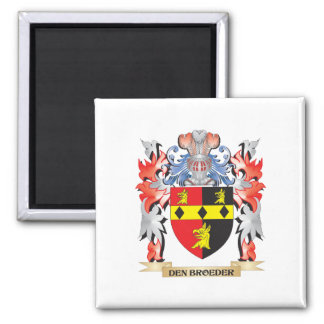 Den-Broeder Coat of Arms - Family Crest Square Magnet