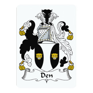 Den Family Crest 13 Cm X 18 Cm Invitation Card