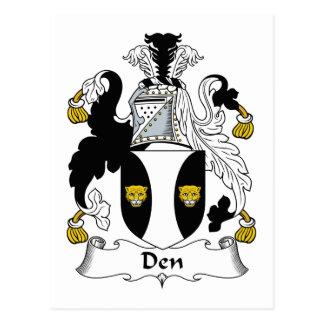 Den Family Crest Postcard