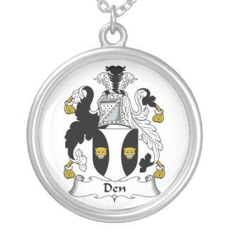 Den Family Crest Round Pendant Necklace