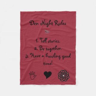 Den Night Rules Blanket Fleece Blanket
