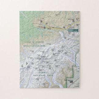 Denali (Alaska) map puzzle