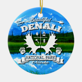 Denali Camper Ceramic Ornament