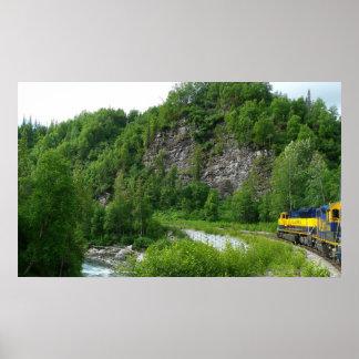 Denali Express Alaska Train Vacation Photography Poster