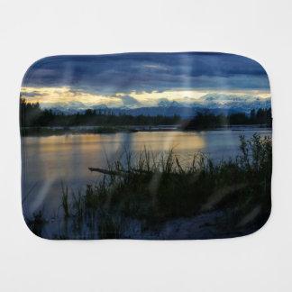 Denali Midnight Sunset Burp Cloth