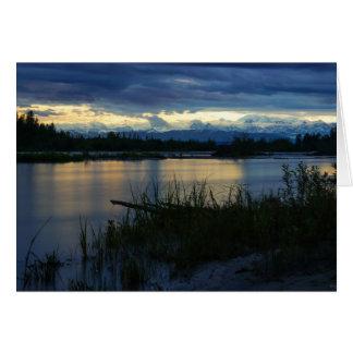 Denali Midnight Sunset Card