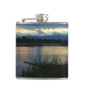 Denali Midnight Sunset Hip Flask