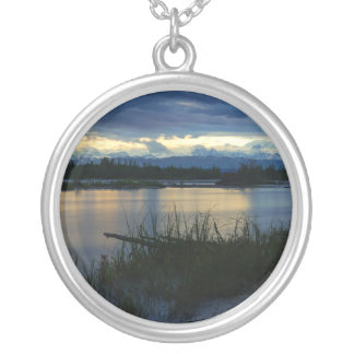 Denali Midnight Sunset Silver Plated Necklace