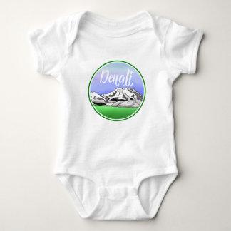 Denali Mountain Landscape Baby Bodysuit