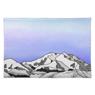 Denali Mountain Line art Landscape Placemat