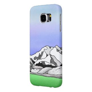 Denali Mountain Line art Landscape Samsung Galaxy S6 Cases