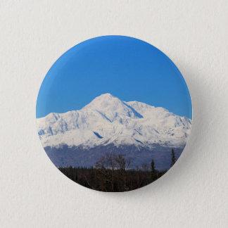 Denali mountains7 6 cm round badge