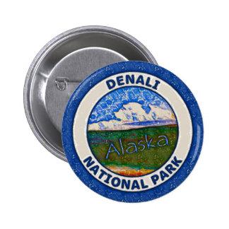Denali National Park, Alaska 6 Cm Round Badge