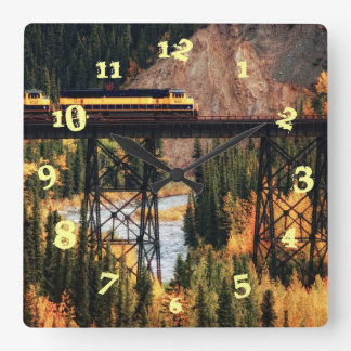 Denali National Park and Preserve USA Alaska Square Wall Clock