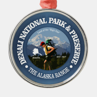 Denali National Park(Hiker C) Metal Ornament