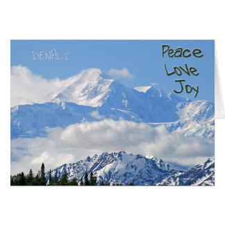 Denali - Peace Love Joy Greeting Card