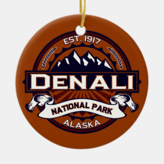 Denali Vibrant Ceramic Ornament