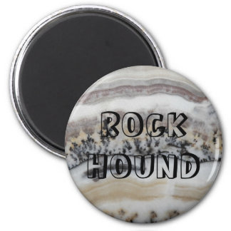 Dendritic Agate Pattern Rock Hound Magnet