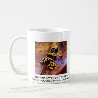 Dendrobates leucomelas coffee mug