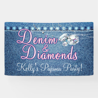 Denim and Diamonds Party with Pink Banner