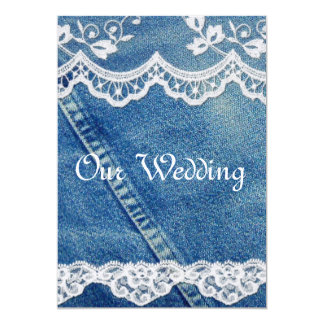 Denim and Lace Rustic Country Wedding Invitations