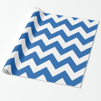 Denim Blue Bold Chevron Wrapping Paper