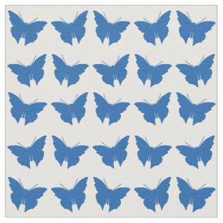 Denim Blue Bold Mod Butterflies Fabric