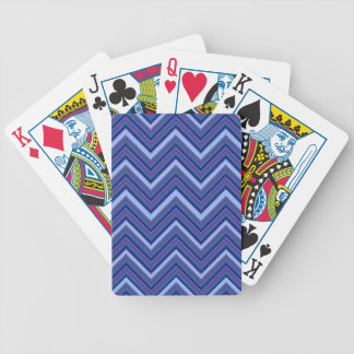 Denim Blue Chevrons Bicycle Playing Cards