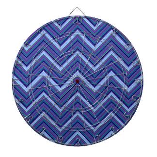 Denim Blue Chevrons Dartboard