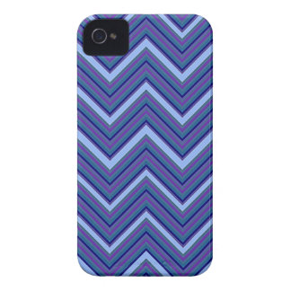 Denim Blue Chevrons iPhone 4 Case-Mate Case