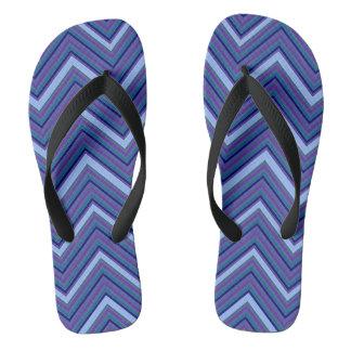 Denim Blue Chevrons Thongs