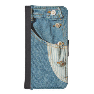 Denim Blue Jean Pocket iPhone SE/5/5s Wallet Case