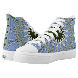 Denim Blues Printed Shoes