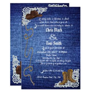 Denim, Boots & Lace Wedding Invite