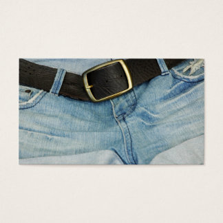 Denim Business Card Vintage Fashion