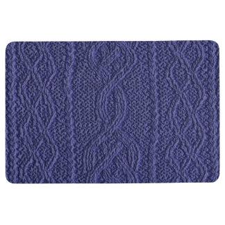 Denim Cable Knit Floor Mat