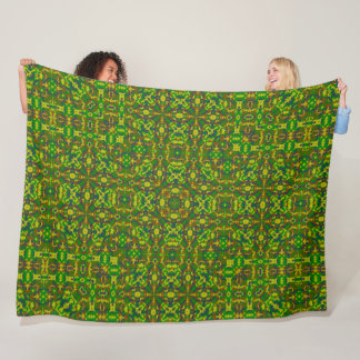Denim Camo Plush Mandala Pattern Quilt Fleece Blanket