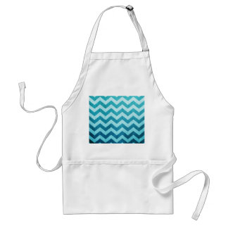 Denim Chevron Standard Apron