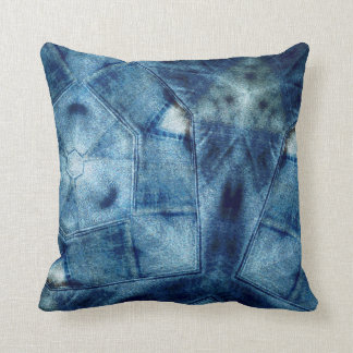 Denim Crazy Quilt Cushion